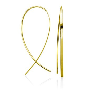 STEELX Upside Down Hoop Earring Gold Plated