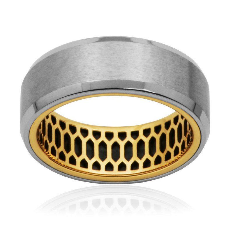 STEELX Matte Two Tone Ring