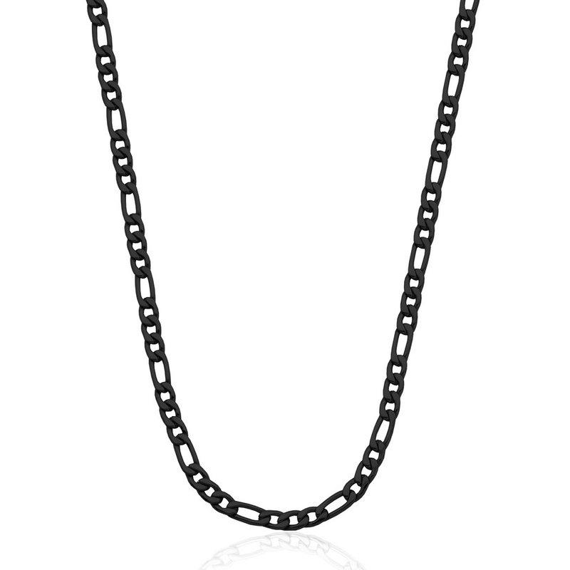 """STEELX Black Figaro Chain 24"""""""