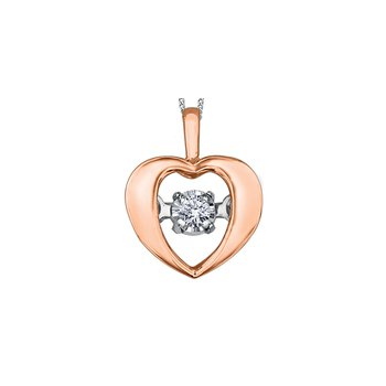 Pulse Moving Diamond Heart Pendant