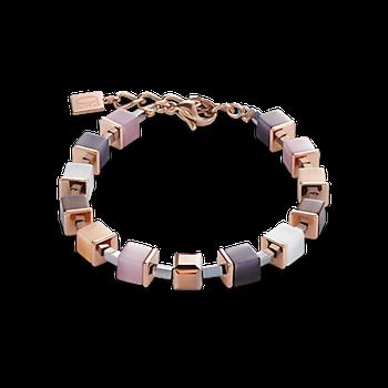 Bracelet GeoCUBE® beige-rose-rose gold