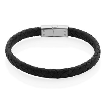 BLACK BRAID BRACLET