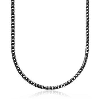 "Black Figaro Chain 24"""