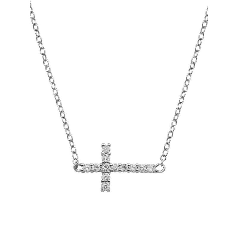 Reign Sideways Cross Pendant