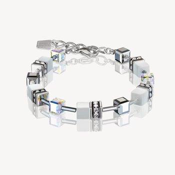 Bracelet GeoCUBE® howlite silver-white