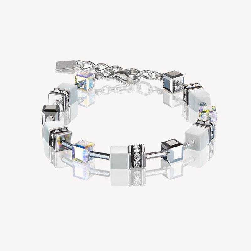 Coeur De Lion Bracelet GeoCUBE® howlite silver-white
