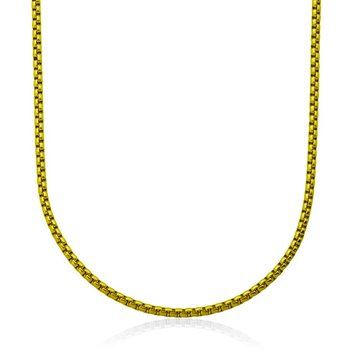 Gold Plated Round Box Chain. 24""