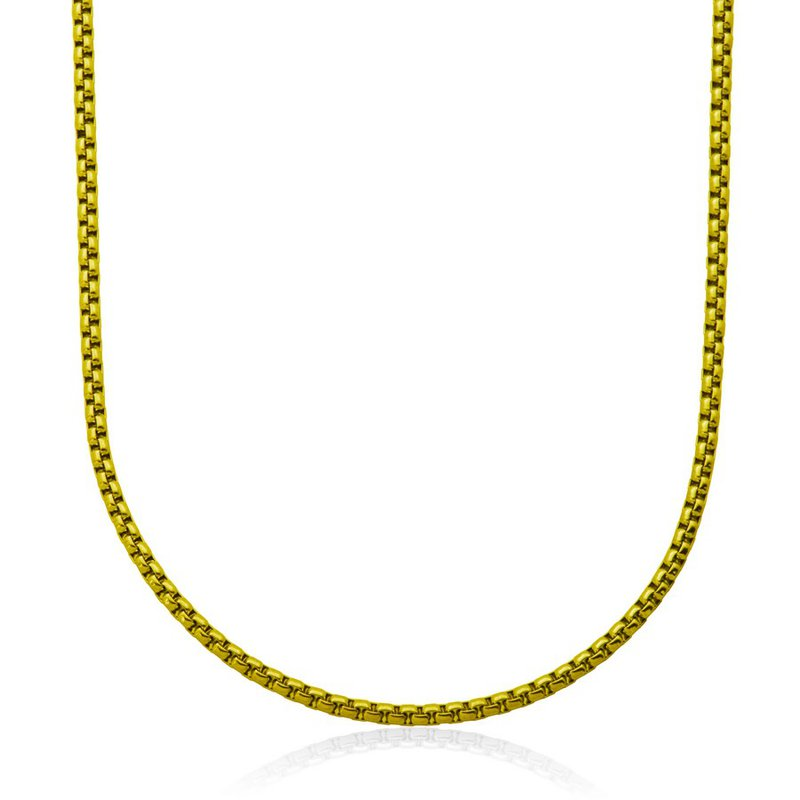 STEELX Gold Plated Round Box Chain. 24""