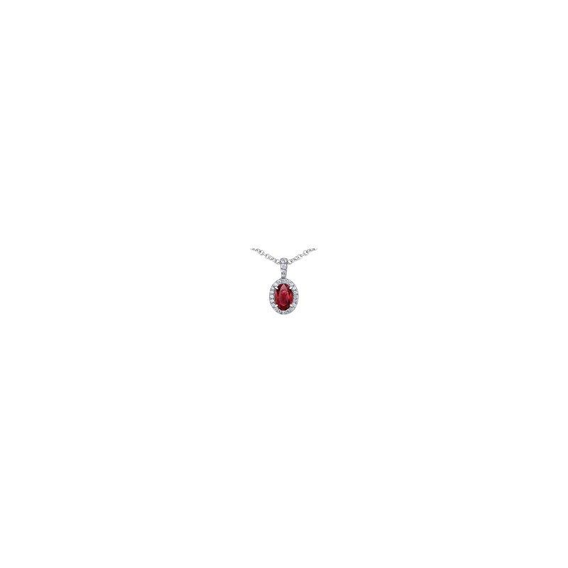 D of D Signature Ruby Diamond Necklace