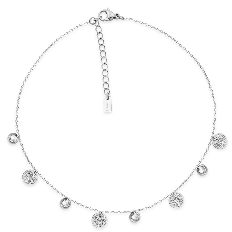 STEELX TREE OF LIFE AND CRYSTAL ANKLET