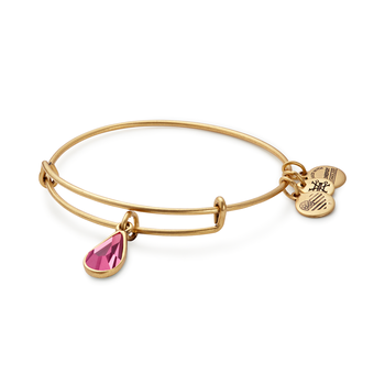 Oct birthstone adjustable bangle