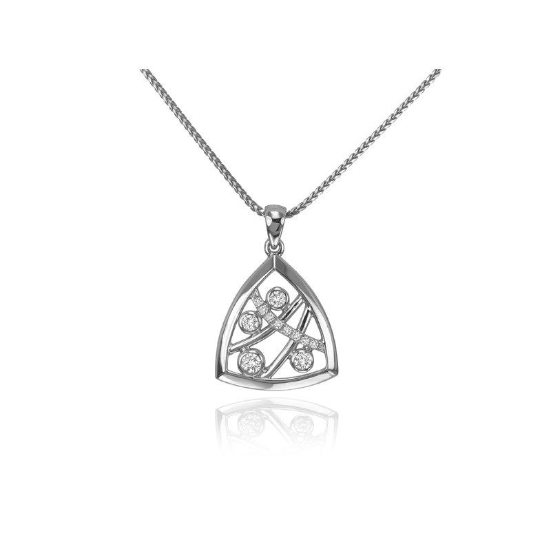 Max Strauss Triangle Diamond pendant