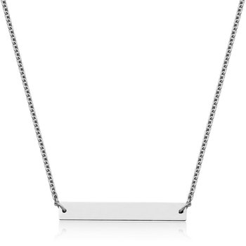 "STEELX ""Personlize Collection"" High Polished Bar Necklace. 17+3"""