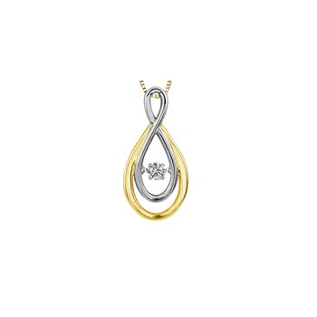 Moving Diamond Infinity Pendant