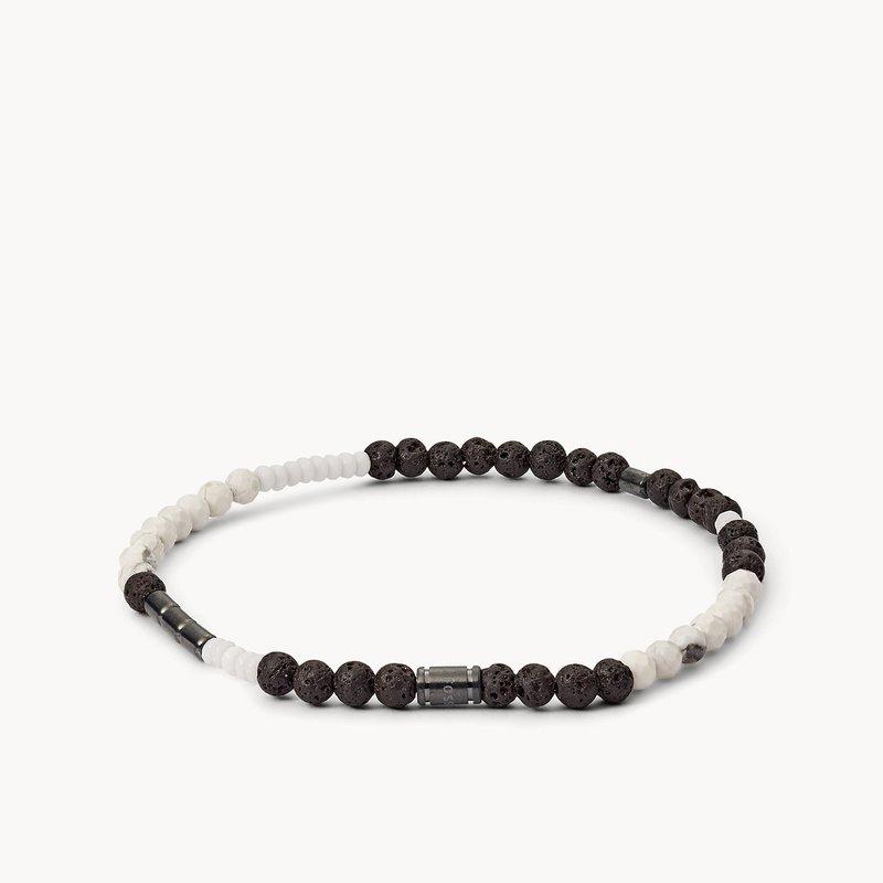 Fossil Men's Black/White Bracelet