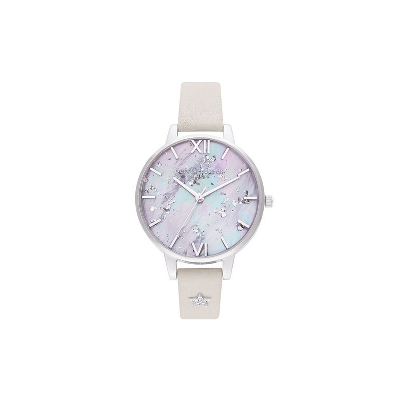 Olivia Burton Celestial Star Mother of Pearl Dial, Blush & Silver