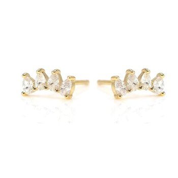 """""""Sincere"""" Gold Tone Earring"""