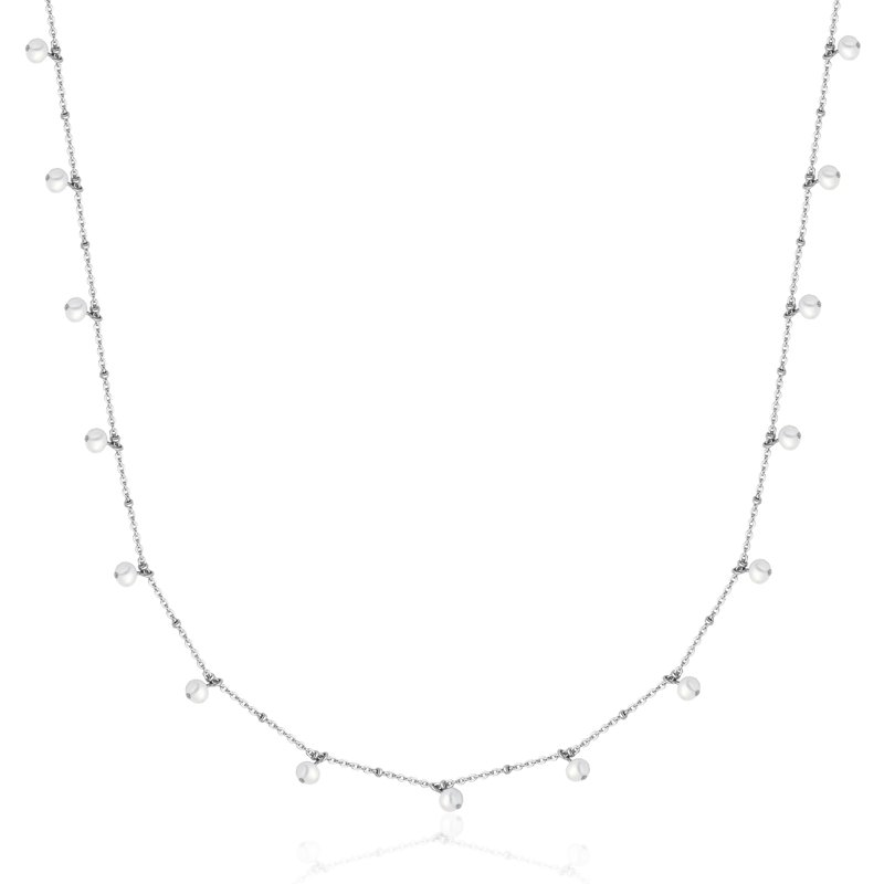 STEELX Long Pearl Necklace