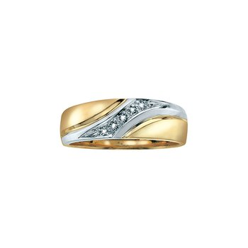 Gold & Diamond Wedding Band