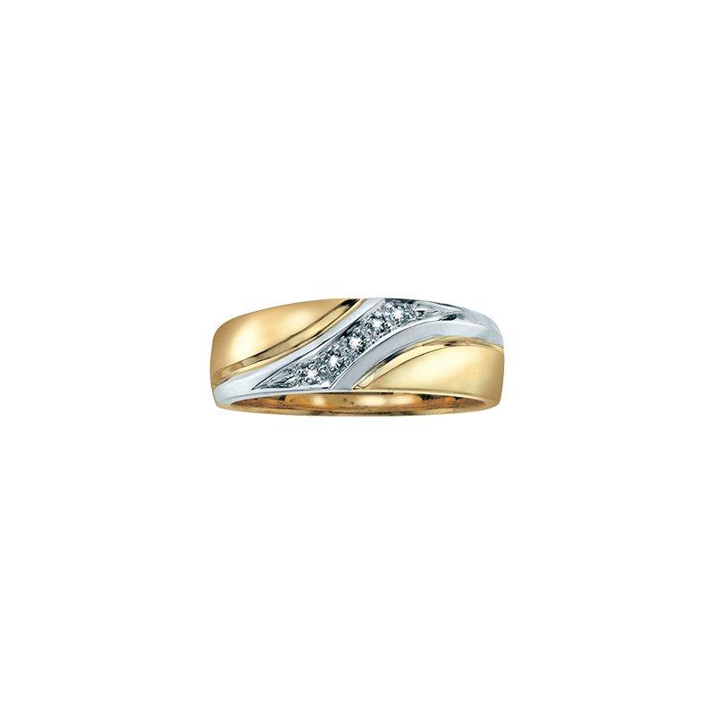 D of D Signature Gold & Diamond Wedding Band