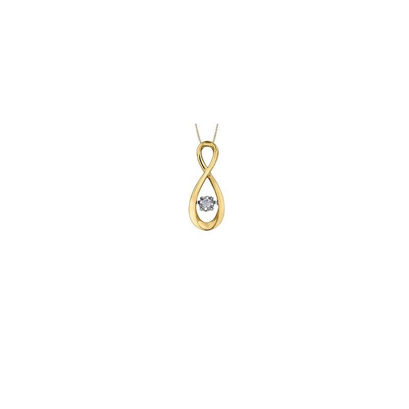 Pulse Moving Diamond Infinity Pendant