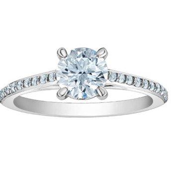Ladies Diamond Engagement Ring LAB GROWN