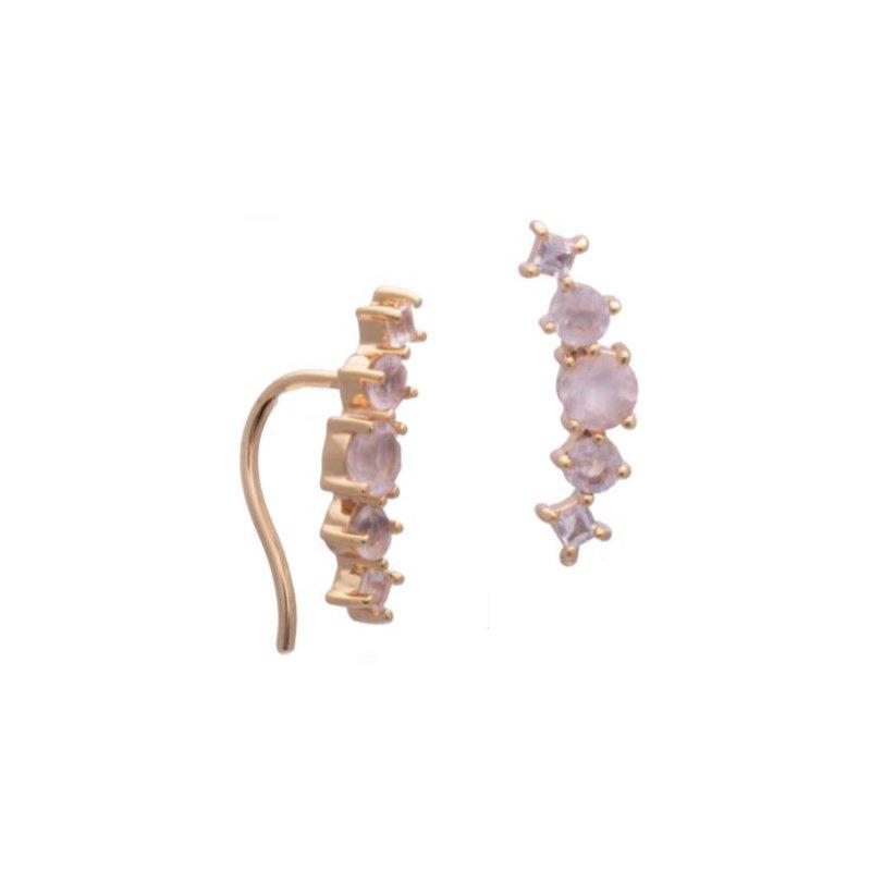 Sarah Mulder Valli Rose Quartz Earrings