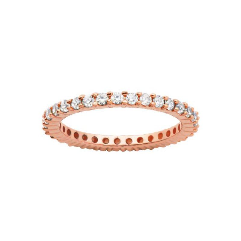 Reign Rose Gold Tone Eternity Ring