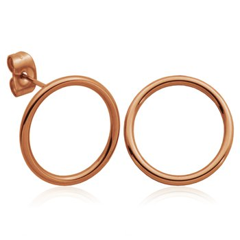 Rose Gold Plated Circle Earrings