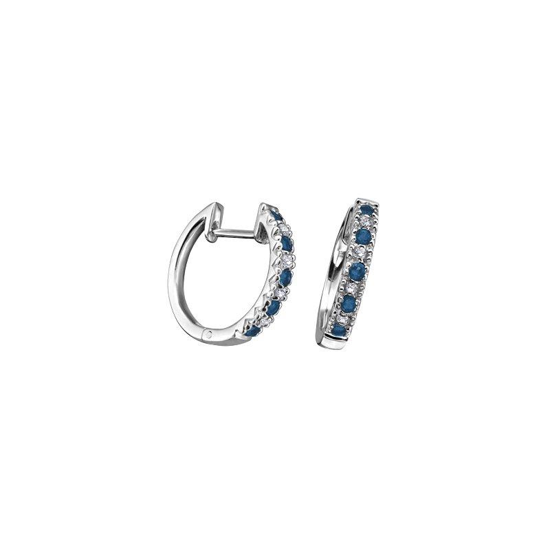 D of D Signature Sapphire Hoop Earrings