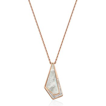 Mother of Pearl CZ Pendant Necklace
