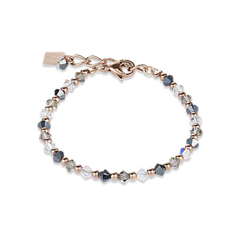 Bracelet Swarovski® Crystals rose gold-grey