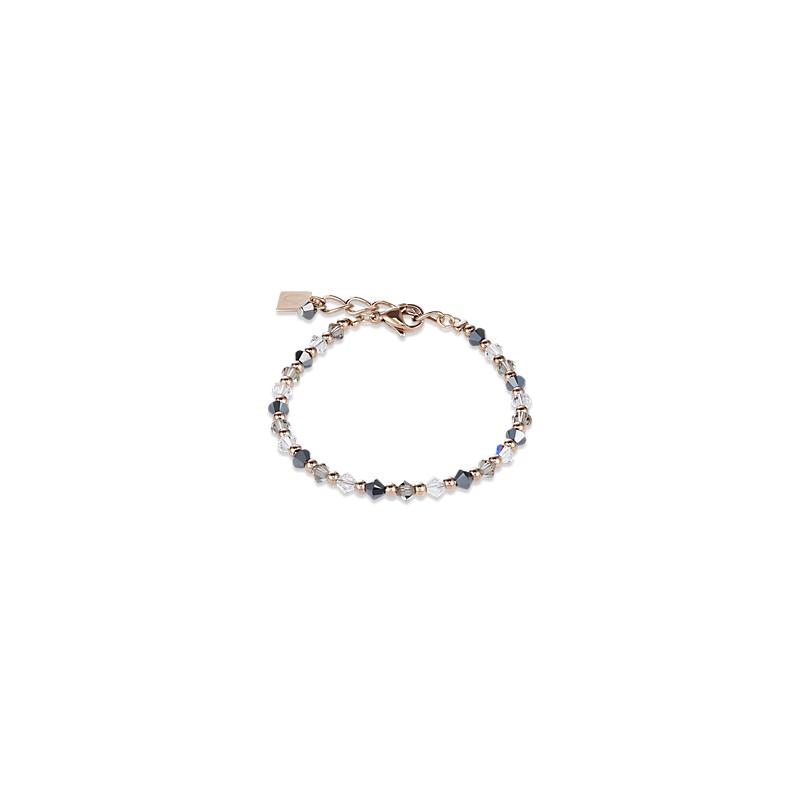 Coeur De Lion Bracelet Swarovski® Crystals rose gold-grey