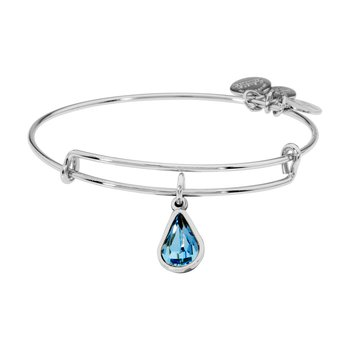 Mar birthstone adjustable bangle
