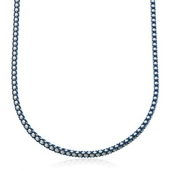 Blue Cord and Round Box Chain