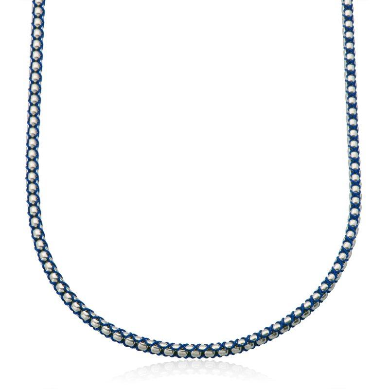 STEELX Blue Cord and Round Box Chain