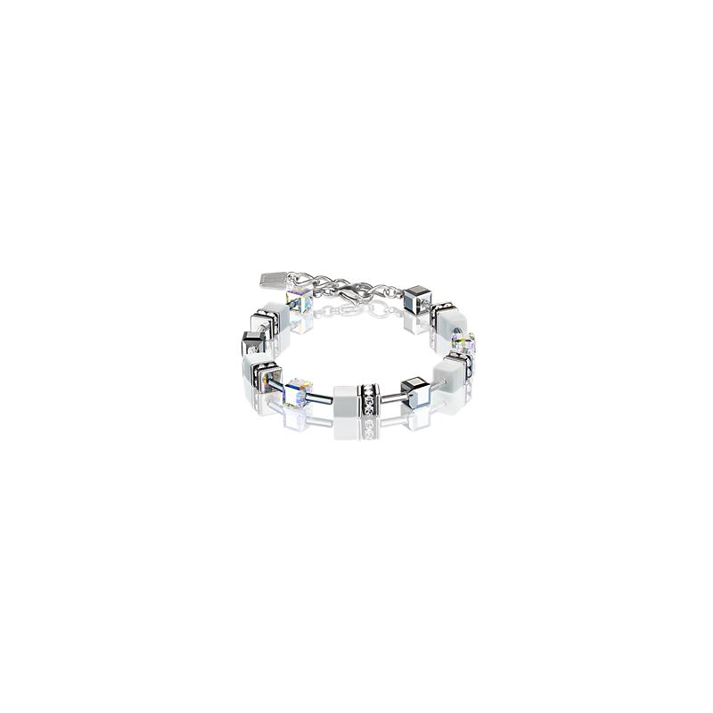 Coeur De Lion GeoCUBE® Bracelet silver & white