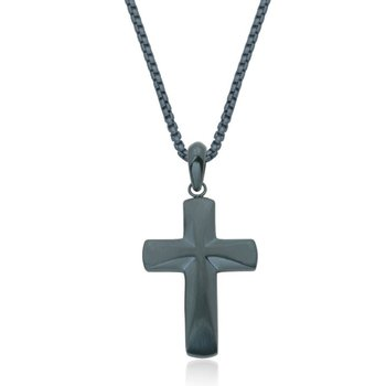 Dark Blue Cross Pendant