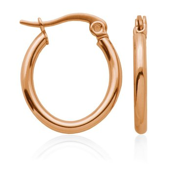 ROSE GOLD TONE HOOP