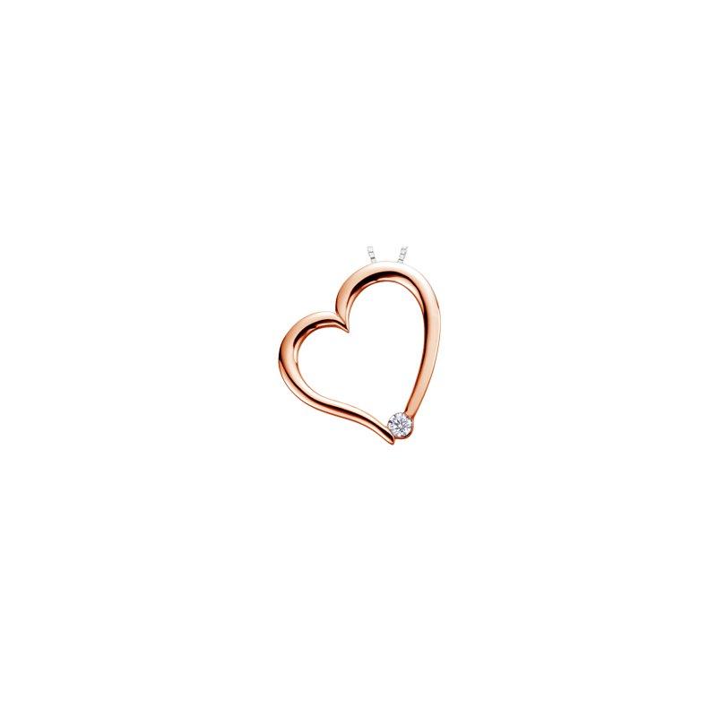 I Am Canadian Heart diamond pendant