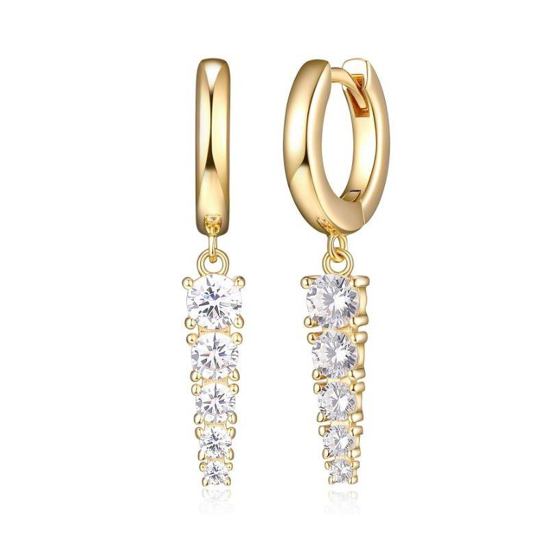 Reign CZ Drop Earrings
