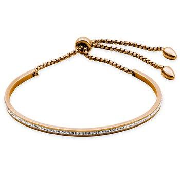 CZ Bracelet Rose Gold Tone