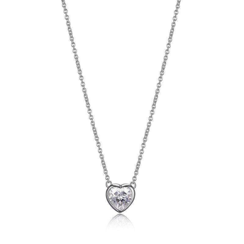 Reign CZ heart pendant