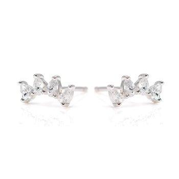 """""""Sincere"""" Silver Earrings"""