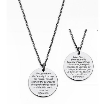 DISC SERENITY PRAYER PENDANT