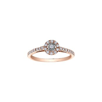 Round Brilliant Bridal Ring with Halo