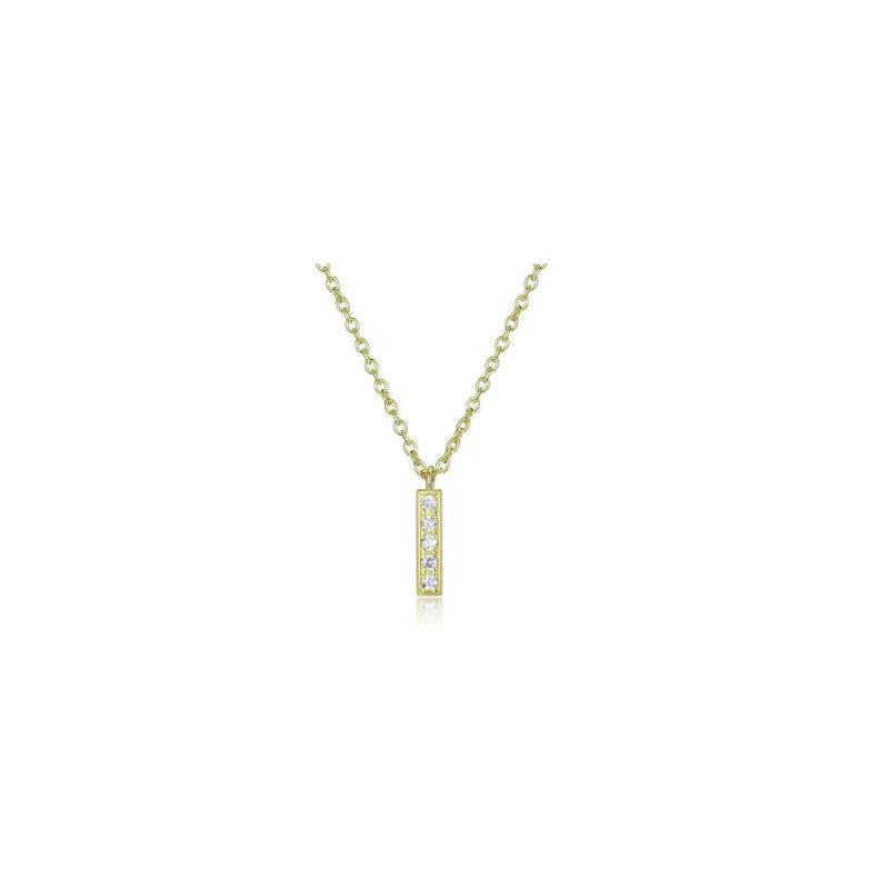 Reign Reign Gold Plated Mini Stick Necklace