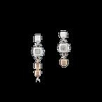 Coeur De Lion Earrings GeoCUBE® cluster silver-rose gold