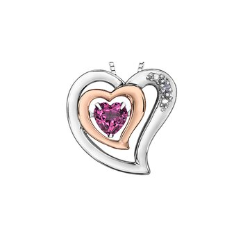 Diamond and Topaz heart pendant