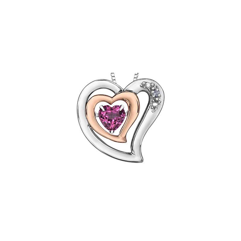 Pulse Diamond and Topaz heart pendant